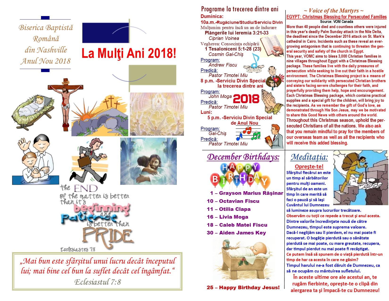 12-31-17 Buletin An Nou page 1 & 2