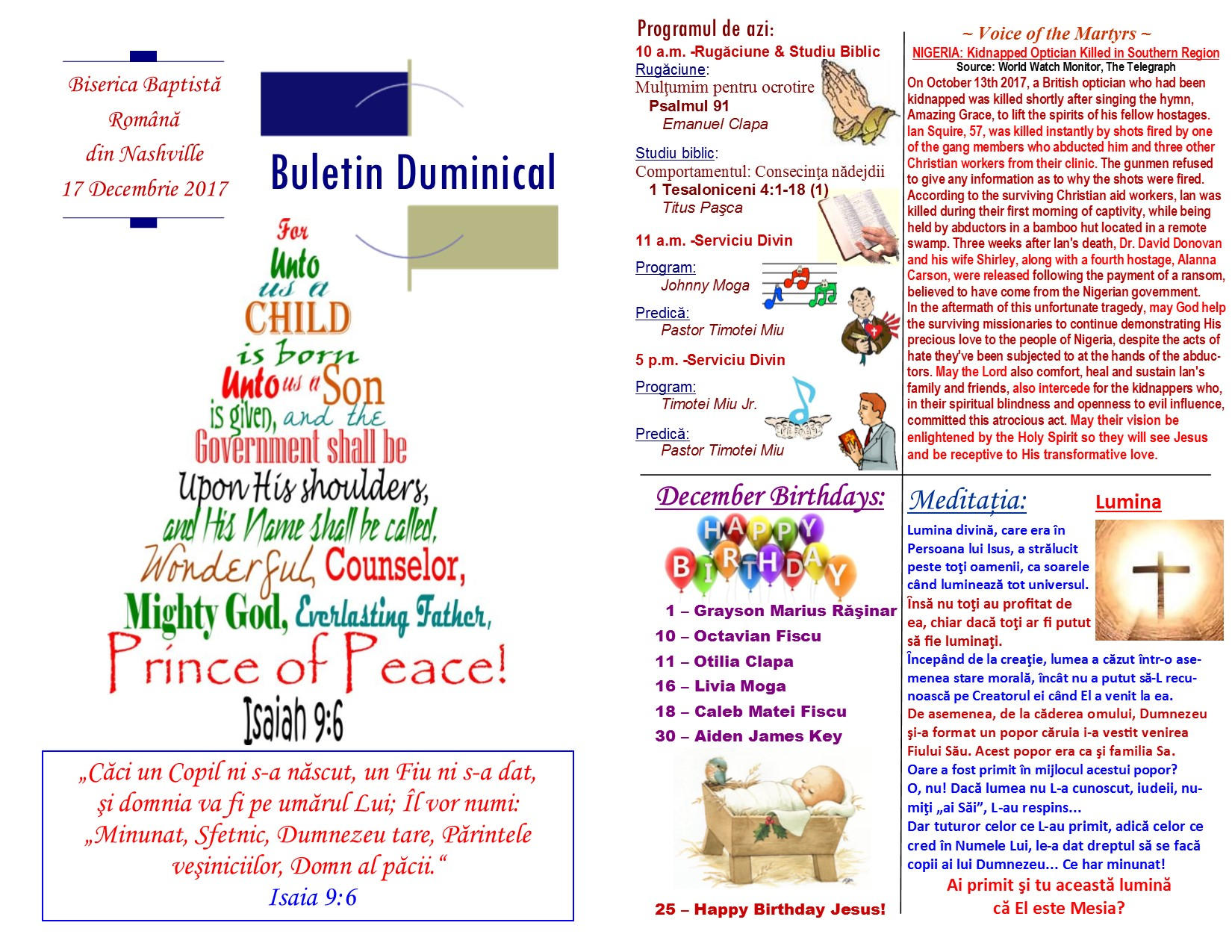 Buletin 12-17-17 page 1 & 2