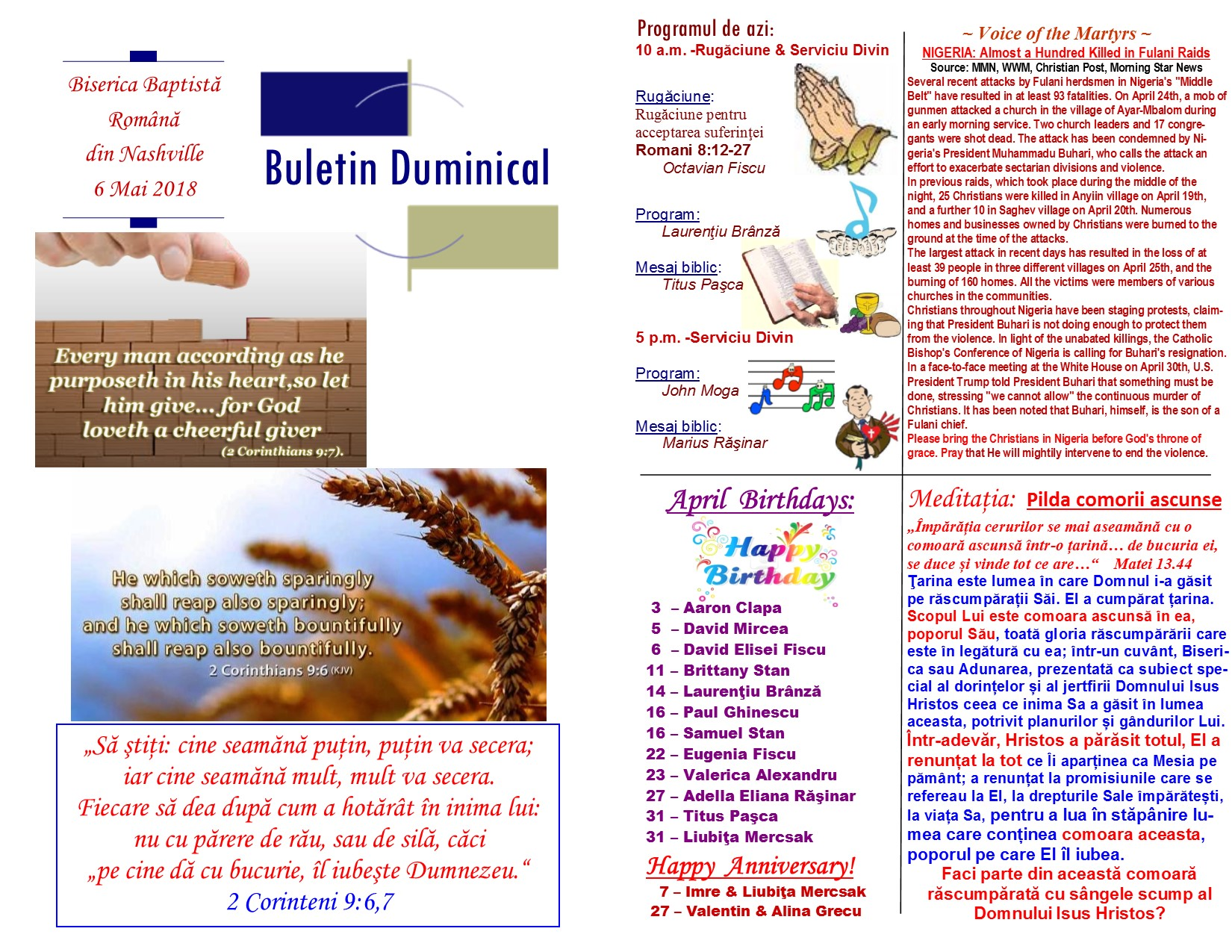 Buletin 05-06-18 page 1 & 2