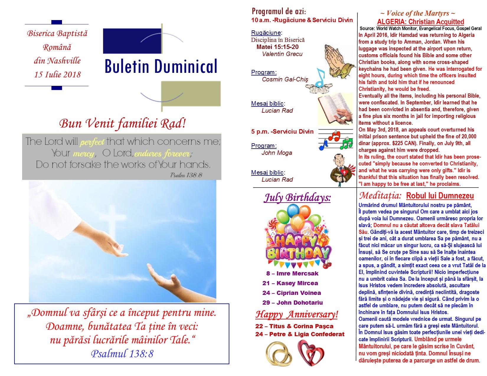 Buletin 07-15-18 page 1 & 2