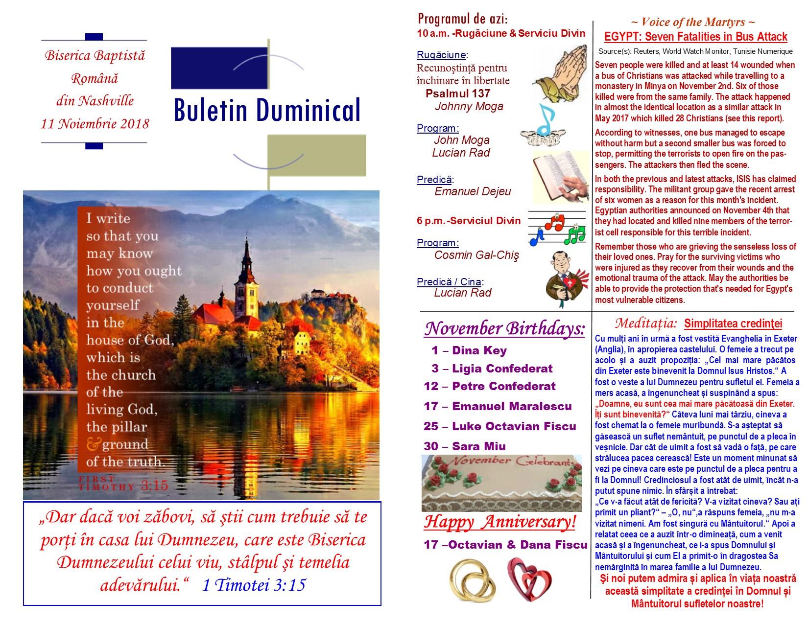 Buletin 11-11-18 page 1 & 2