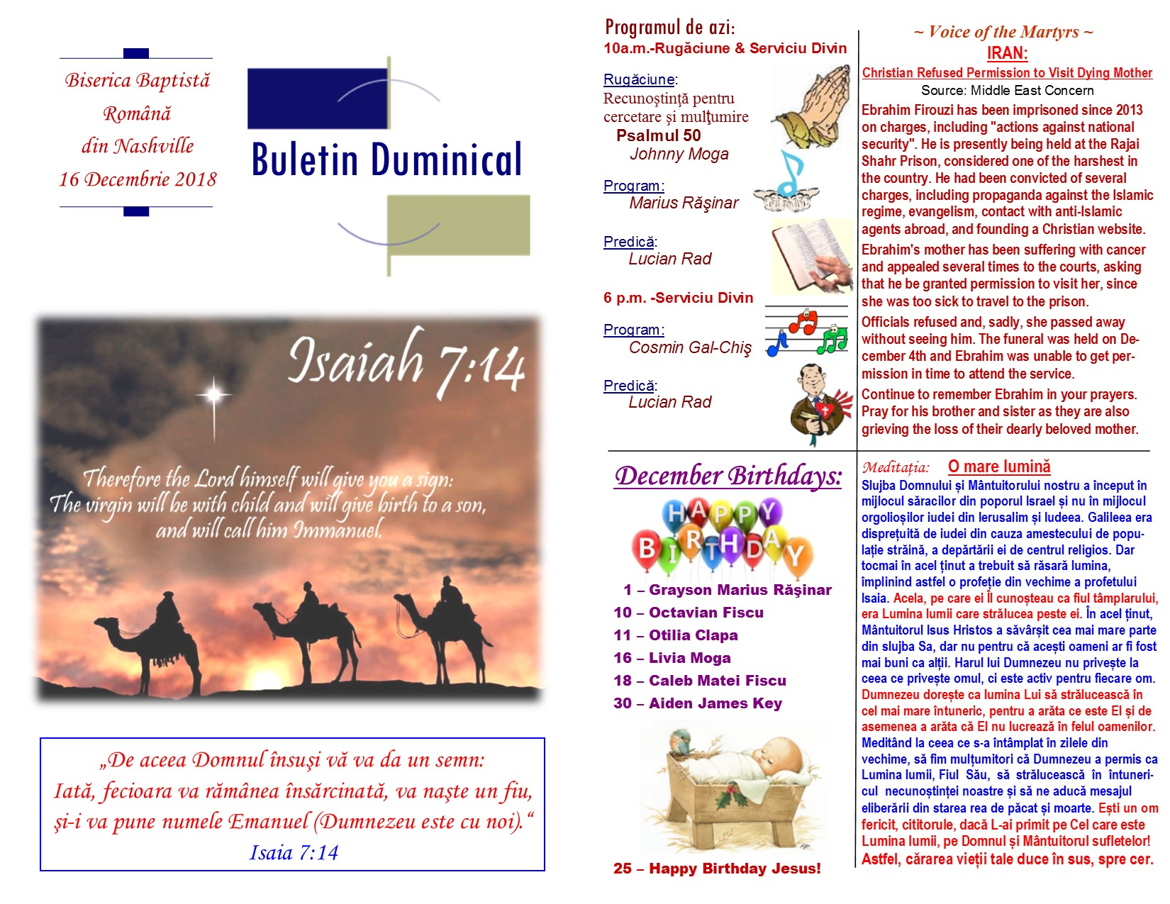 Buletin 12-16-18 page 1 & 2