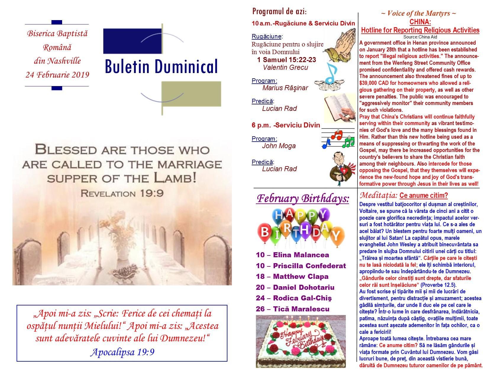 Buletin 02-24-19 page 1 & 2
