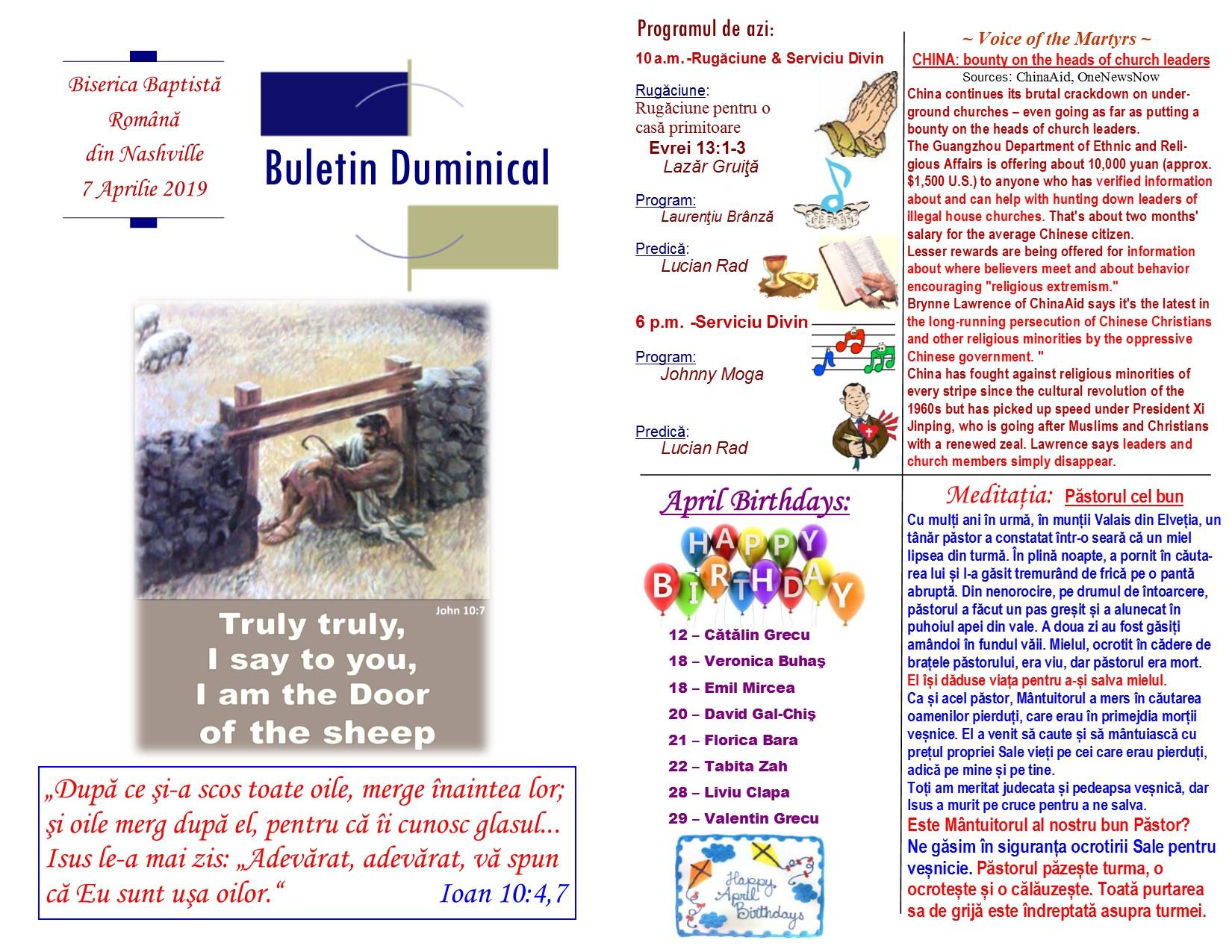 Buletin 04-07-19 page 1 & 2