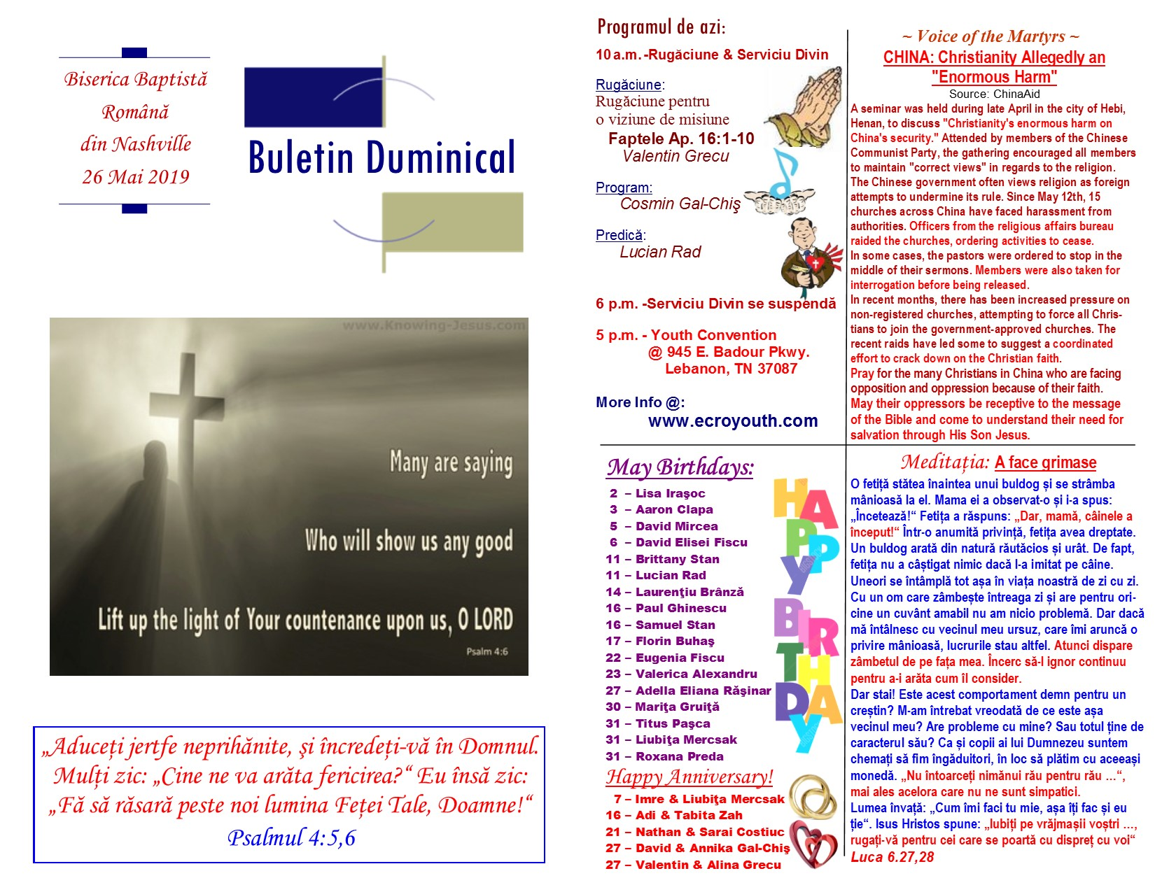 Buletin 05-26-19 page 1 & 2