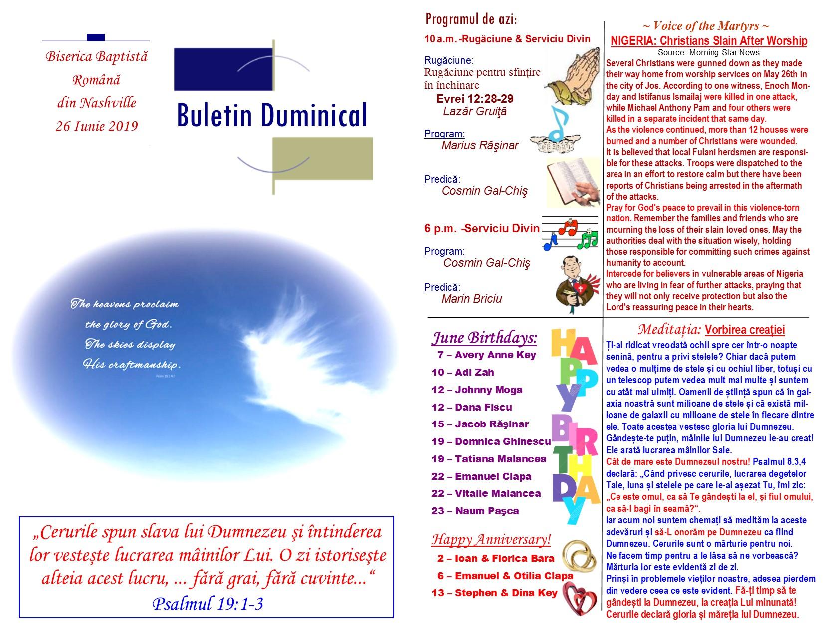 Buletin 06-23-19 page 1 & 2