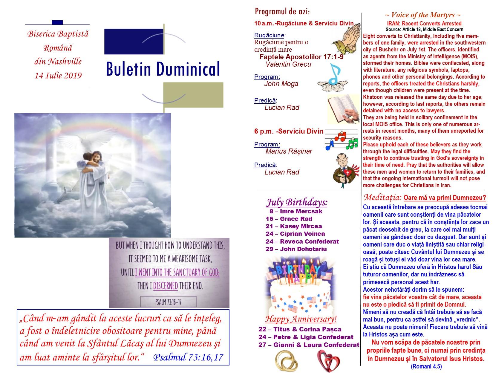 Buletin 07-14-19 page 1 & 2