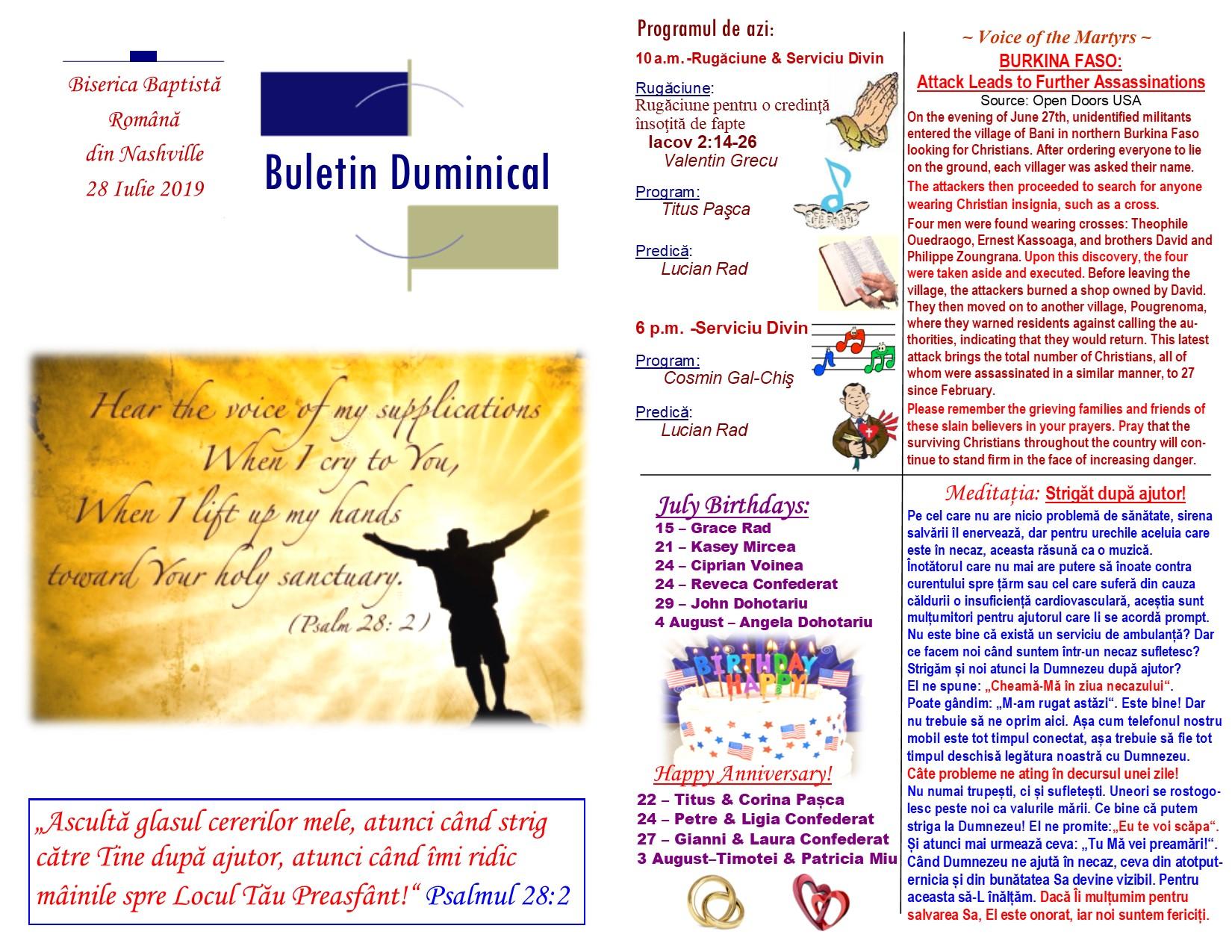 Buletin 07-28-19 page 1 & 2