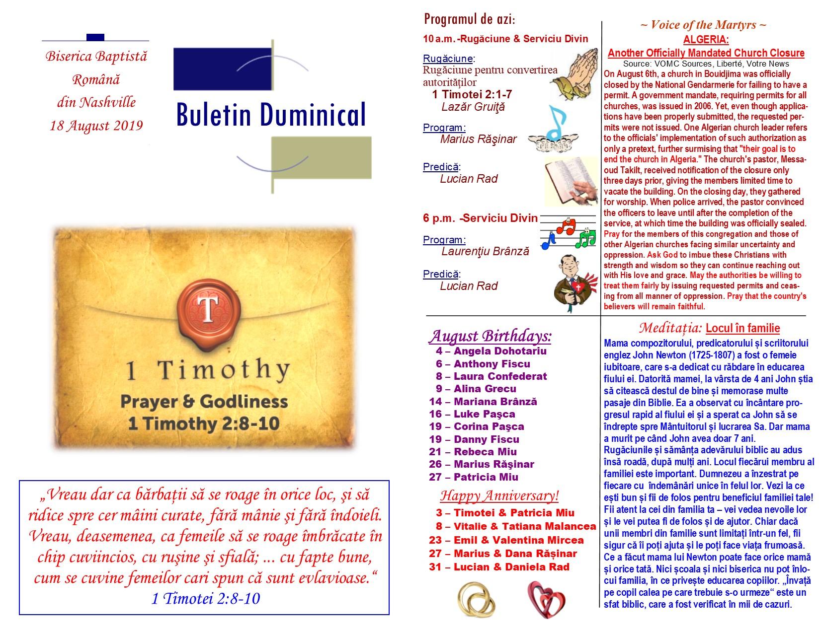 Buletin 08-18-19 page 1 & 2