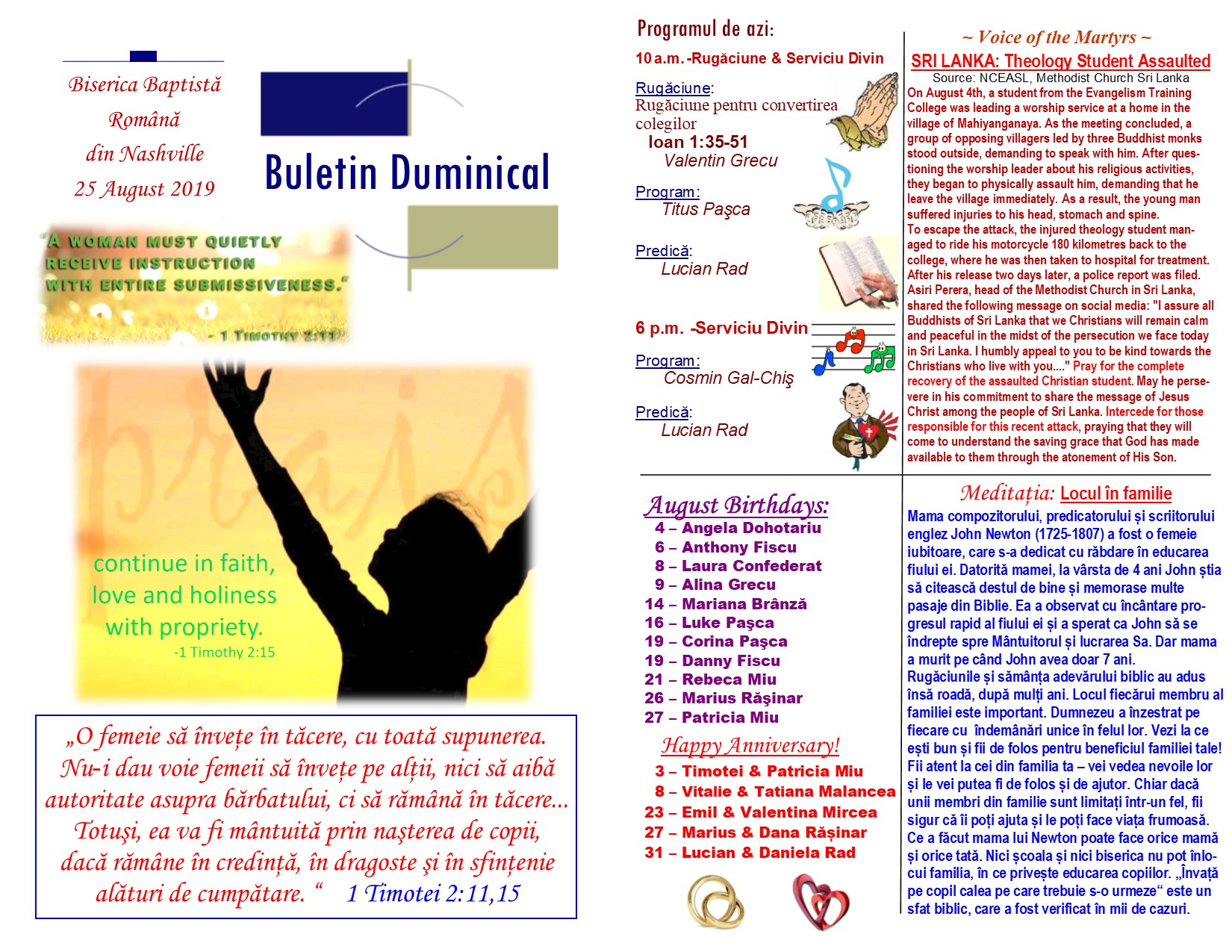 Buletin 08-25-19 page 1 & 2