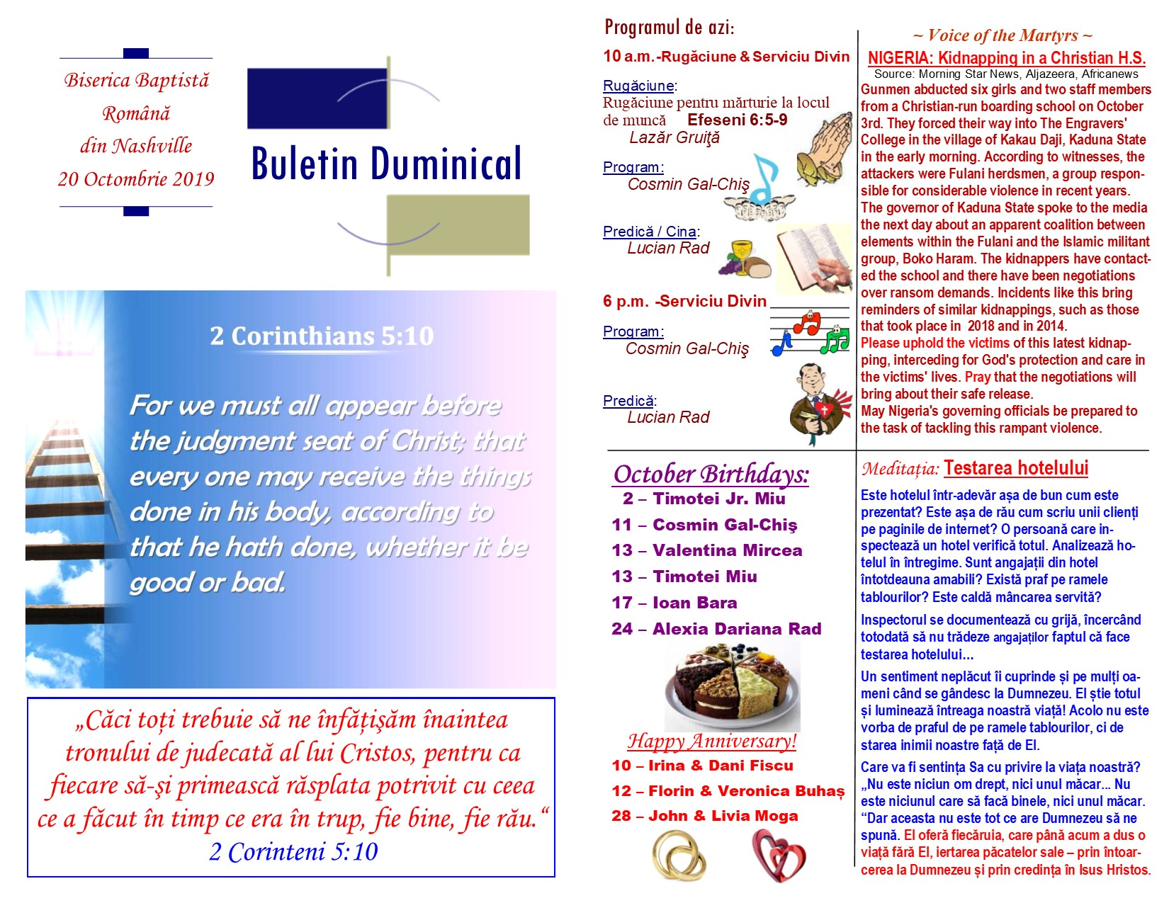Buletin 10-20-19 page 1 & 2