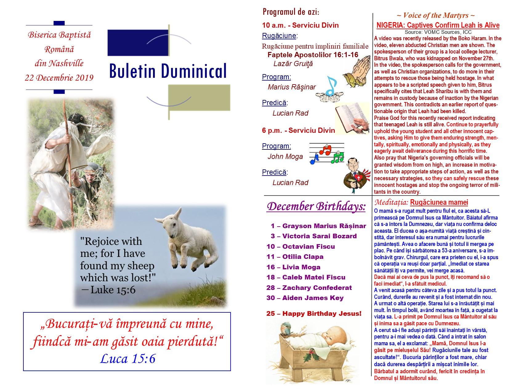 Buletin 12-22-19 page 1 & 2