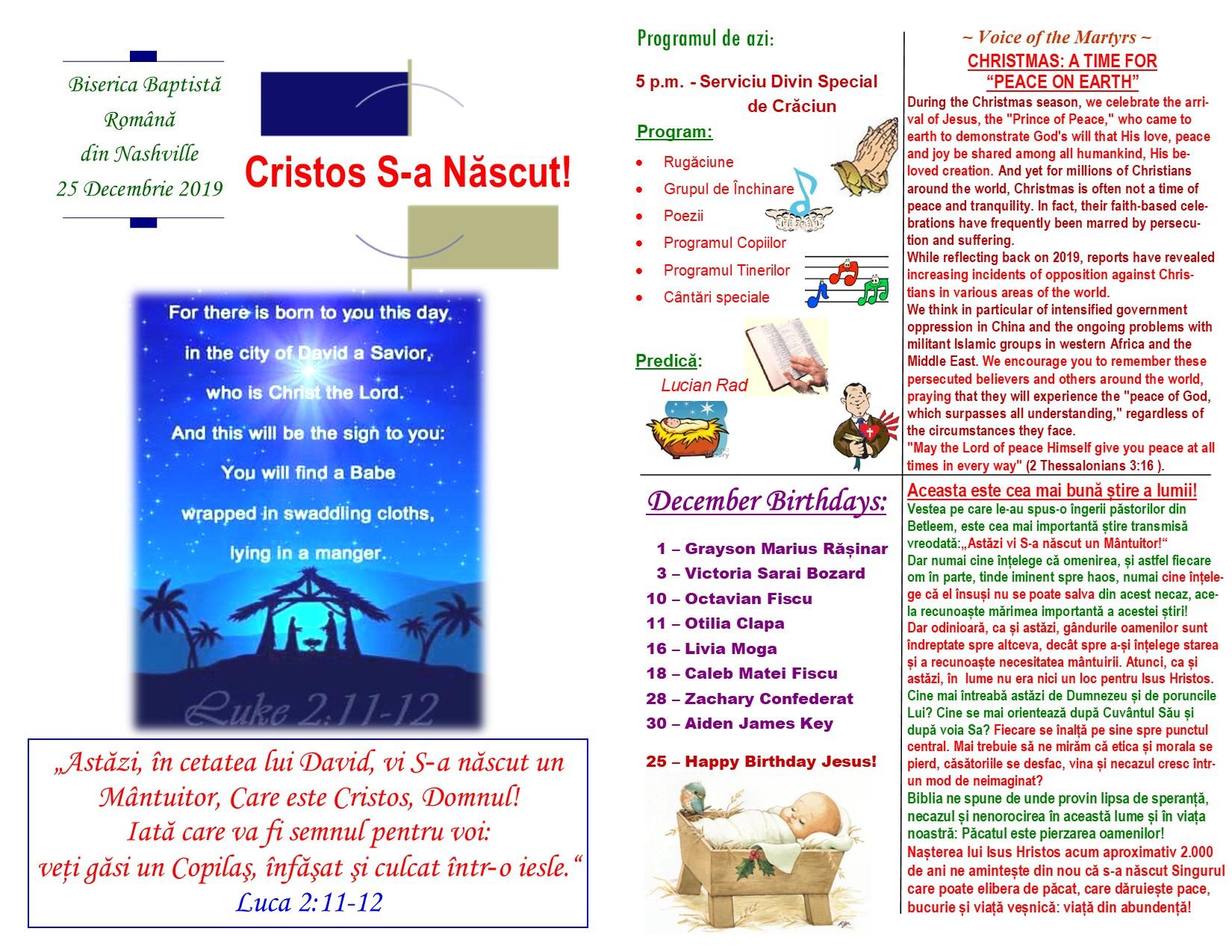 Buletin 12-25-19 page 1 & 2