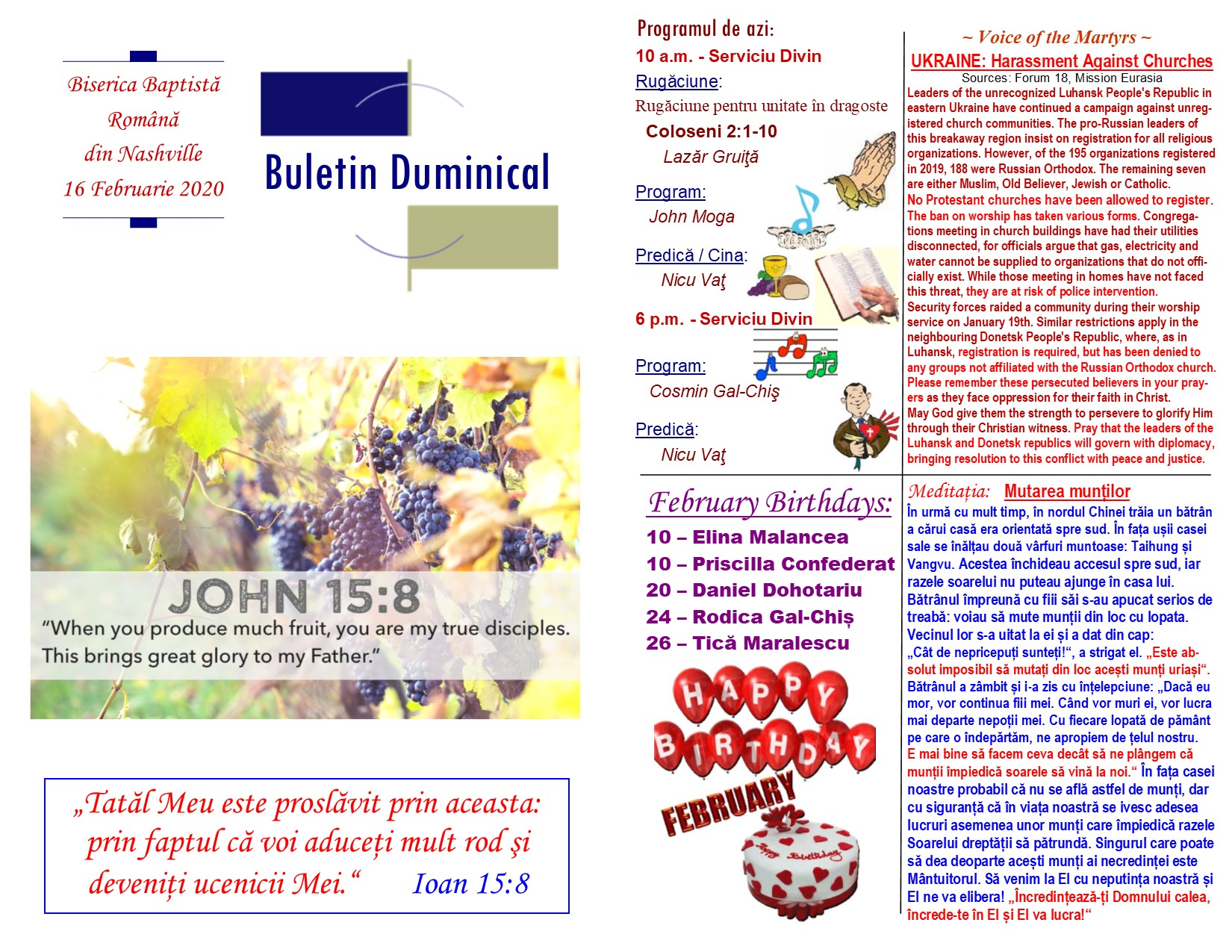 Buletin 02-16-20 page 1 & 2